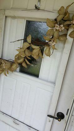Decorated Window Frame, Primitive Crafts, Folkart, Farmhouse Decor, Cottage Decor, Porch Decor, Old Window, Repurposed Window, Home Decor