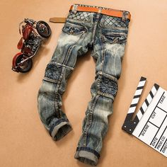 32.71$  Buy here - http://aimno.worlditems.win/all/product.php?id=32797859559 - Slling hot brands The Explosion Of Aliexpress And Old Male Foreign Trade Jeans Retro Jeans Slim Straight One Generation 28-38