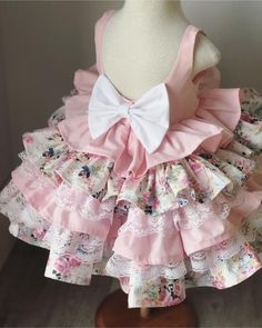 Girls Fancy Dresses, Baby Girl Party Dresses, Frocks For Girls, Little Girl Dresses, Baby Dress, 1st Birthday Girl Dress, Birthday Dresses, Baby Girl Dress Patterns, Doll Dress Patterns