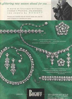 1956 Bogoff #rhinestone #costume #jewelry #vintage ad