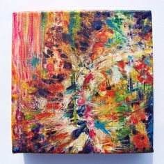 Abstract Acrylic Painting Creation by thebluewindmill on Etsy, $55.00