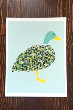 "Gingiber's Mallard Duck illustration, available as an 8""x10"" or 11""x14"" art print, with additional white border. Printed on ultra premium presentation paper with archival inks."