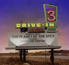 Route 3 Drive-In, Rutherford NJ - The drive-in operated from the early until (CR: My parents took us here in our pjs in the Rutherford was once part of Kearny. Jersey Girl, New Jersey, Drive In Movie Theater, Lokal, Planet Of The Apes, Old Signs, Old Movies, The Good Old Days, Back In The Day
