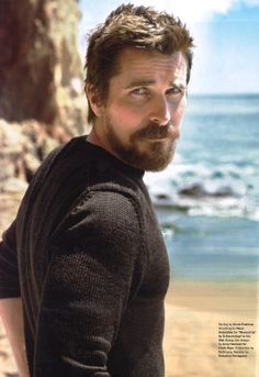 Details, January 2014 (USA): Christian Bale wearing a Ferragamo runway collection sweater. Beard tumblr