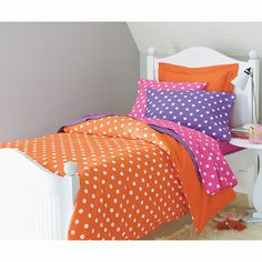 Company Cotton® Bright Dots Comforter Cover - Z's twin bed