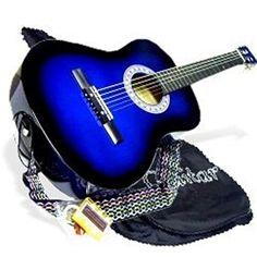 38 BLUE Acoustic Guitar Starter Beginner Package Guitar Gig Bag Extra String  DirectlyCheapTM Translucent Medium Guitar Pick BUAG38 >>> See this great product.
