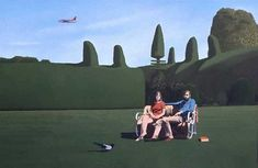 Graham and Ann Arnold by David Inshaw. Later, fellow members of the Brotherhood of Ruralists. Nature Paintings, Landscape Paintings, English Romantic, Tate Gallery, A Moment In Time, Country Artists, Contemporary Landscape, Local Artists, Illustration Art