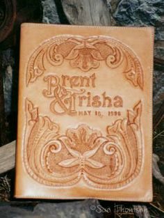 Western Leather Carving wedding book  - WetCanvas
