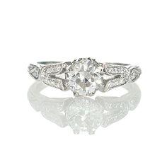 Replica Art Deco Engagement Ring  US$4,445    Stock Number: 1906-20