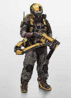 Robot concept art sci fi future soldier 51 Ideas for 2019 Sci Fi Armor, Sci Fi Weapons, Robot Concept Art, Armor Concept, Star Citizen, Armadura Sci Fi, Military Costumes, Futuristic Armour, Cyberpunk Character