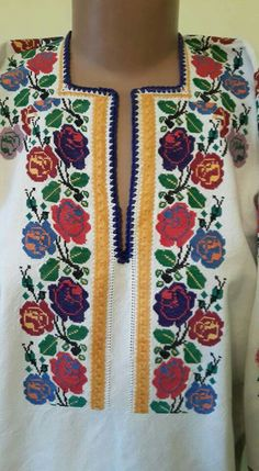 Popular, Embroidery, Ornaments, Chic, Hand Embroidery, Punto De Cruz, Dots, Flowers, Shabby Chic