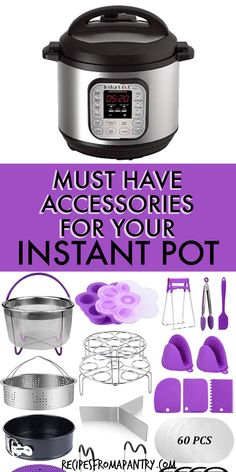 Get ready to spread the Instant Pot joy with this list of the Best Instant Pot Accessories, cookbooks and unique gifts!You'll find something for everyone, from beginners to, hostess gifts to the seasoned Instant Pot pro. This list includes Must Have Instant Pot accessories that will make using your instant Pot a breeze and help with cooking hacks. #instantpot #pressurecooker #instantpotgiftguide #pressurecookergiftguide #christmas #christmasgiftguide #instantpotaccessories… Instant Pot Chicken Thighs Recipe, Best Instant Pot Recipe, Pressure Cooker Chicken, Pressure Cooker Recipes, Supper Recipes, Lunch Recipes, Potted Beef Recipe, Recipes For Beginners, Cooking Tips