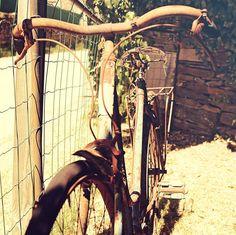 Il a dû en faire des kilomètres celui la  #bike #sun #old #ww2 #oldtimes #village