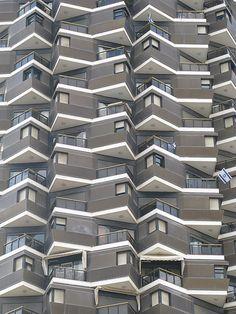 High Rise apartment block built near the Dizengoff Centre, Israel, Tel Aviv