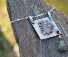 Flying Feather Necklace with Arizona Turquoise