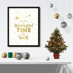 The Most Wonderful Time of the Year Christmas Poster Print -- See more at www.pasteltrail.com