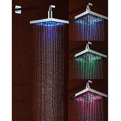 Chrome LED Rain Shower Head
