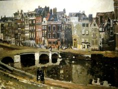 Inch Print - High quality print (other products available) - George Hendrik Breitner Dutch painter. The Rokin in Amsterdam, Rijksmuseum. - Image supplied by Mary Evans Prints Online - Photo Print made in the USA Van Gogh, City Painting, Dutch Painters, Painting Gallery, Painting Inspiration, Landscape Paintings, Photo Wall Art, Online Printing, Amsterdam Holland