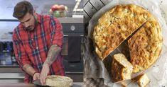 Άκης Πετρετζίκης: Εύκολη τυρόπιτα με γιαούρτι, χωρίς φύλλο, έτοιμη σε 20 λεπτά Bread, Food, Meal, Essen, Breads, Buns, Sandwich Loaf