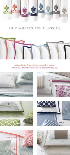 Clasic White Cotton Sheets & White Bedding Sets by Serena & Lily