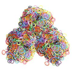 2504-Piece Set: Colorful Loom Bandz with S-Clips & Weaving Sticks at 80% Savings off Retail!