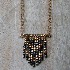 Chevron Fringe Pendant — Acanthus Jewelry Design
