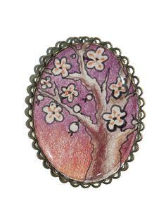 Broche cerezo en flor