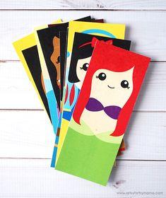Free Printable Disney Princess Bookmarks - Another! Disney Princess Crafts, Disney Crafts For Kids, Crafts For Kids To Make, Disney Diy, Disney Cruise, Disney Bookmarks, Free Printable Bookmarks, Bookmarks Kids, Disney Printables