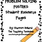 "This download includes two posters that can be a resource to your students when studying problem solving.  The title of the two posters are ""Proble..."