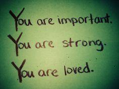 Important, Loved, Kind Card (June 2015) Tara B