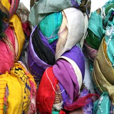 Silk sari ribbon from the heart of the silk route