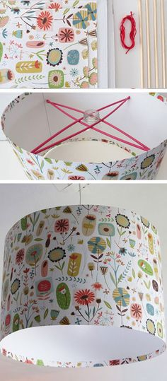 Re-Cover an Old Lampshade - DIY Decorating Ideas for The Home - Click for Tutorial