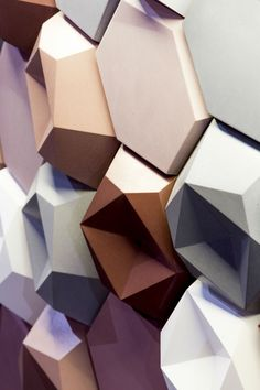 'Edgy' concrete tiles by Patrycja Domanska and Tanja Lightfoot I KAZA Concrete #3D tiles #featurewall
