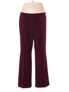 Ann Taylor LOFT Dress Pants: Size 14.00 Burgundy Women's Bottoms - $15.99