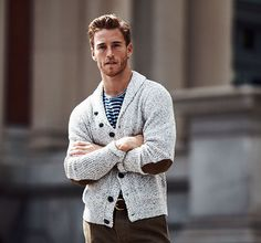 Mmm yes nice cardigan- said no heterosexual girl ever.this guy could wear a habit and still look hot