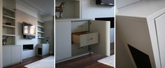 double alcove cabinets with adjustable shelves