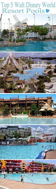 Top 5 Best Walt Disney World Resort Pools disney world #traveltips #disney