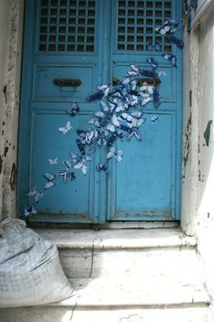 Butterfly Street Art by Tasha Lewis