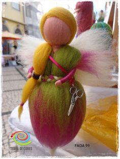 needle felt fairy with tiny scissor by TERRA DE CORES