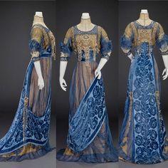 Evening dress by Girolamo Giuseffi, ca. 1912. Indianapolis Museum of Art   via The Corseted Beauty