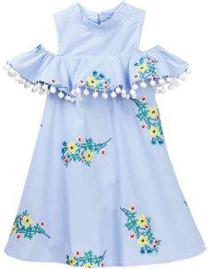 Adorable cold shoulder summer dress.  baby girl | fashion | clothes | outfits | summer | spring | floral | afflink