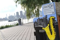 2015 Sing for Hope Piano placed in WNYC Transmitter Park