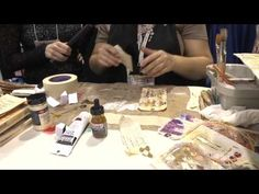 CHA 2014 - Rebecca Meier Demos for The Crafters Workshop - YouTube Awesome Technique for DIY washi, backgrounds or tags!