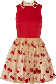 ALICE + OLIVIA Cherry Pouf cotton-blend and tulle dress $700...good thing they don't have my size <3