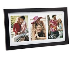 3 Opening 4x6 Black Wood Collage Picture Frame