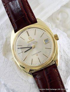 1969 18K Omega Constellation Automatic Men's Watch on a Crocodile Bordeaux Strap