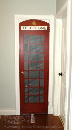 English Phone Booth Closet Door