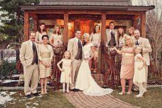 Family Portraits -- wedding photo shot