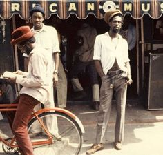 Dancehall: Gregory Isaacs in front of his African Museum store on Chancery Lane, Kingston