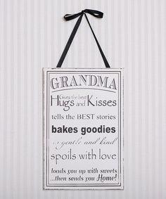 Love this Black & White 'Grandma' Wall Art by Adams & Co. on #zulily! #zulilyfinds
